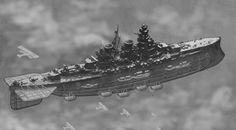 Aerodreadnought of the Cruiser Squadron by ColorCopyCenter on DeviantArt Concept Ships, Concept Art, Zeppelin, Steampunk Ship, Flying Ship, Sci Fi Ships, Tecno, Alternate History, Punk Art