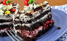 кусок торта, пьяная вишня, торт, пирожное, шматок торта, п'яна вишня, тістечко