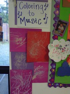 This was pinned as just a picture but can be translated into an open-ended musical learning opportunity for preschoolers. Turn on music and allow children to explore the music through art. You could also compare children's artwork that was done while listening to different genres of music. I wonder if the art would be influenced differently with different music?!