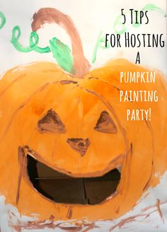 So cool!! 5 Tips for Hosting a Pumpkin Painting Party -- plus free printable…