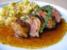 V kuchyni vždy otevřeno ...: Kachní prsa v limetovo citronové marinádě Food 52, Steak, Pork, Food And Drink, Chicken, Recipes, Lemon, Egg, Kale Stir Fry