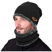 51236a2726d Winter Scarf and Thick Knit Skull Cap for Men. Affiliate Mens Winter Beanies