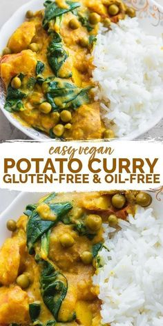 This easy vegan potato curry is perfect for a comforting weeknight dinner thats ready in less than 30 minutes. Made with soft potatoes, flavourful tomatoes and a rich sauce, this is delicious served over a bed of rice. Gluten-free and oil-free. #vegancurry #potatocurry #easycurry #vegandinner #vegancomfortfood