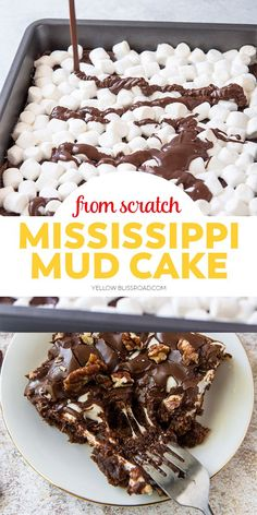 Sheet Cake Recipes, Dump Cake Recipes, Delicious Cake Recipes, Homemade Cake Recipes, Yummy Cakes, Frosting Recipes, Fondant Recipes, Mississippi Mud Pie, Dessert Simple