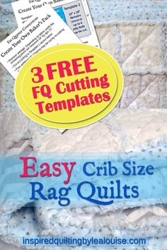 Learning how to make a crib size rag quilt is much easier when you keep these 5 key tips in mind. With the correct fabric & methods you can make a rag quilt Rag Quilt Patterns, Beginner Quilt Patterns, Quilt Tutorials, Sewing Patterns, Granny Square Quilt, Low Volume Quilt, Stash Fabrics, Baby Rag Quilts, Fat Quarter Quilt