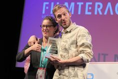 "The winners of Filmteractive Market ""Evio"" Award - ""The Reward"" from Denmark"