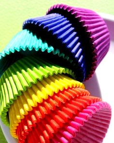 Rainbow colors ❖de l'arc-en-ciel❖❶Toni Kami Colorful cupcake liners