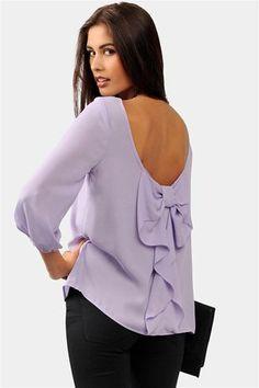 (1) Waldorf Bow Blouse - Lavender on Wanelo