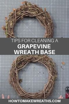 When creating grapevine wreaths, it's important to get the basics down. Learn some of our tips on cleaning and prepping a grapevine wreath base before you make your beautiful wreaths and avoid scratches on your wall or front door.