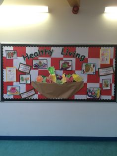 Healthy living display. Collaboration of kids work through Reception- EYFS.