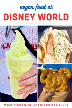 Are you planning a trip to Disney? My family went earlier this summer, and we ate like kings! Wondering about vegan options in and around the parks? I've got you with this eating tour of our visit. BONUS: The incredibly Melissa from Vegan Disney World joined us to talk about eating vegan at Magic Kingdom, EPCOT, and Hollywood Studios. Eating Vegan, Vegan Food, Vegan Recipes, Vegan Disney World, Vegan Crab, Mushy Peas, Impossible Burger, Apple Slaw, Veggie Sandwich