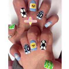 24 Mejores Imágenes De Nails Dani Football Nails Soccer Nails Y