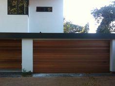 El Moderno Contemporary Wood Garage Door And Vertical