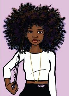 55 Amazing Black Hair Art Pictures And Paintings Black Girl Love Of Art Black Girl Art Black Love Art Cartoon Afro Hair Drawing Kumpulan Soal Pelajaran 5 175 Be Black Girl Art, Black Women Art, Black Girls Rock, Black Girl Magic, Art Girl, Black Girl Cartoon, Natural Hair Art, Pelo Natural, Natural Hair Styles