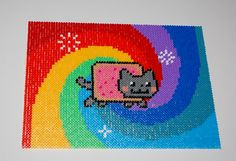 Nyan Cat perler art by Mina pärlplattor