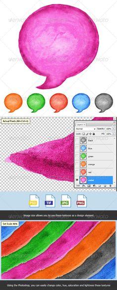 6 Speech Bubble Watercolor Circle Shape - Decorative #Symbols #Decorative Download here: https://graphicriver.net/item/6-speech-bubble-watercolor-circle-shape/3797472?ref=alena994
