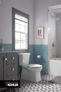 If your toilet isn& cleaning itself, maybe it& time for a new toilet. Enjoy the confidence of a better flush and experience how your toilet can clean itself. Pool Bathroom, Small Bathroom, Master Bathroom, Bathroom Design Luxury, Bathroom Designs, Bathroom Ideas, Kohler Toilet, Primitive Bathrooms, New Toilet