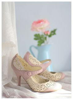 Pastel Retro Shoes by cafe noHut, via Flickr