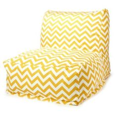Check out this item at One Kings Lane! Zigzag Outdoor Lounger, Yellow