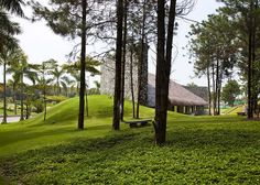 Dailai conference centre near Hanoi, Vietnam by Vo Trong Nghia Architects