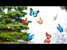 Shrink Plastic Butterfly Mobile - MyPrintly