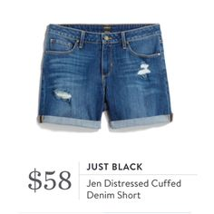 **** STITCH FIX Spring Summer styles!  Just in for your May 2017 fix! Loving these awesome distressed cuffed shorts. Will rock these all summer long!  Just click the picture to get started today and custom style your own personal wardrobe with your OWN personal stylist! #StitchFix #sponsored