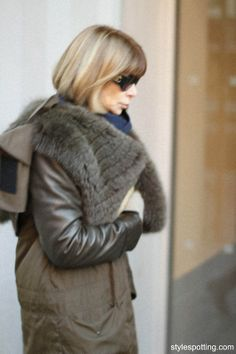 Anna Wintour, random sighting on the street in Greenwich Village, Dec, 2011 -- stylespotting.com