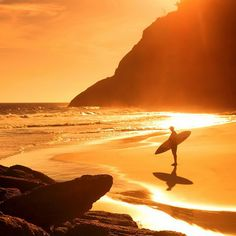 one of my top destinations - rio de janeiro, brazil Foto Nature, Sunset Surf, Beach Sunrise, Surfing Quotes, The Beach, Learn To Surf, Photos Voyages, Storyboard, Beautiful Beaches