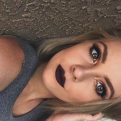 Instagram : aspenorstedmua Fall Makeup, Makeup Tips, Septum Ring, Makeup Looks, Piercings, Tattoo, My Style, Pretty, Rings