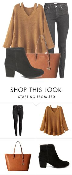 """Outfit #1506"" by lauraandrade98 on Polyvore featuring H&M, WithChic, MICHAEL Michael Kors and Steve Madden"