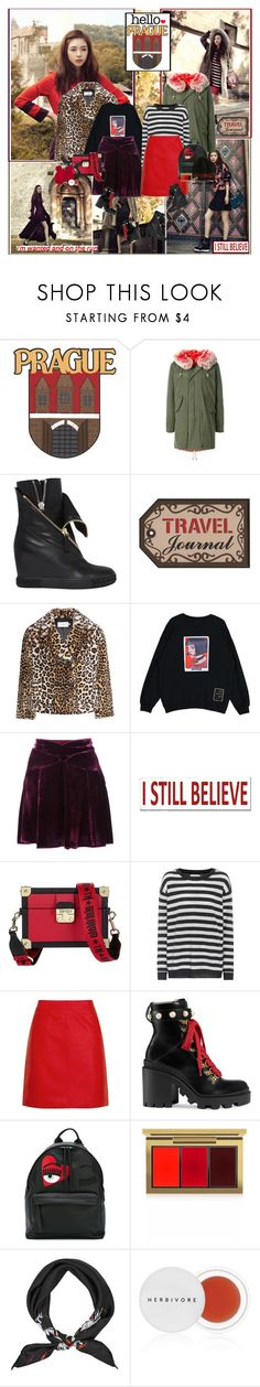 """""""Prague : )"""" by thisiswhoireallyam7 ❤ liked on Polyvore featuring History Repeats, Casadei, Stand, Anna Sui, Sixtrees, Tommy Hilfiger, Velvet, Topshop, Gucci and Chiara Ferragni"""