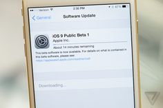 iOS 9 public beta stock