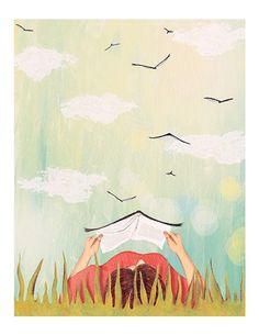 Josée Bisaillon - Art print - Lecture d'été - Sur ton mur - 1
