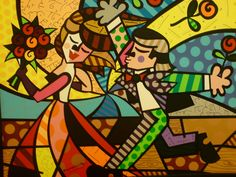 Follow Me - Romero Britto - WikiArt.