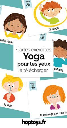 Le yoga des yeux permet de prendre conscience et de détendre les muscles oculomoteurs. Quelques exercices simples peuvent être réalisés par votre enfant. Relaxation Meditation, Zen Yoga, Relaxing Yoga, Yoga Gym, Baby Corner, Brain Gym, Face Yoga, Baby Development, Yoga Session
