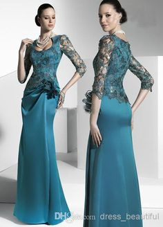 Custom Made Mother of the Bride Dress Dresses 2013 Babyonline Dress Lace Length Sleeve Flower Satin Gowns Lace Evening Gowns, Evening Dresses With Sleeves, Wedding Dresses With Straps, Bridesmaid Dresses, Bride Dresses, Dress Wedding, Maternity Dresses, Prom Dresses, Long Formal Gowns