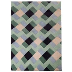 Weft Green rug by Kangan Arora Contemporary Rugs, Modern Rugs, Contemporary Furniture, Living Room Sofa Design, Rugs In Living Room, Sage Color, Colourful Cushions, Indian Textiles, Hand Tufted Rugs