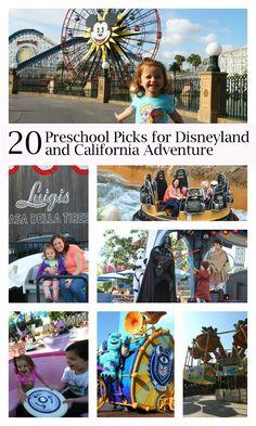 20 preschool picks for Disneyland and California Adventure #disney --> great post by @Jessica Turner