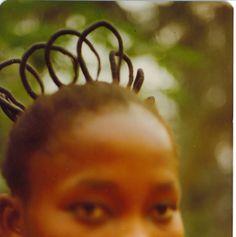 Hair braids. Film scan from 1978.