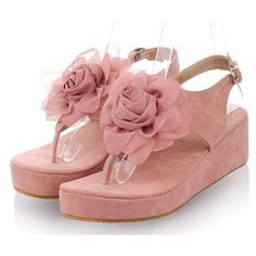 Cheap Pink Wedge Fashion Wedding Bridesmaid Prom Party Sandals Shoes SKU-1090763