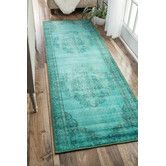 Found it at AllModern - Xavier Machine Woven Turquoise Area Rug