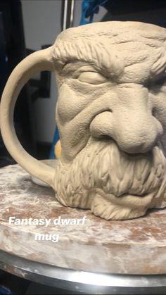 Ceramic Bowls, Ceramic Pottery, Pottery Art, Ceramic Art, Pottery Ideas, Clay Art Projects, Ceramics Projects, Polymer Clay Sculptures, Sculpture Clay