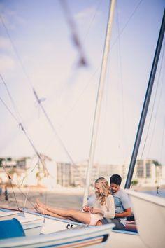 love this #sailboat #beach #engagement inspiration