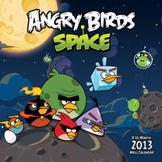 Angry Birds in Space Wall Calendar: To boldly go where no Angry Bird has ever gone before! This beloved red bird has now catapulted its way into space!  $14.99  http://calendars.com/Video-Games/Angry-Birds-in-Space-2013-Wall-Calendar/prod201300005597/?categoryId=cat130002=cat130002#