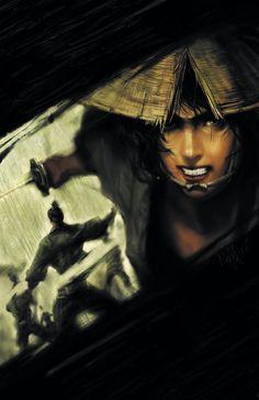 Samurai art - looks like ninja scroll to me