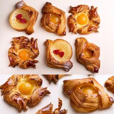 "KICA on Instagram: ""И ещё пару булочек в догонку предыдущим из того же теста, слоёного дрожжевого."" Breakfast Pastries, Sweet Pastries, Bread And Pastries, French Pastries, Bakery Branding, Bakery Menu, Dessert Bread, Dessert Recipes, Puff Pastry Croissant"