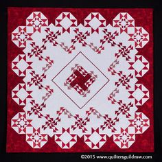 Red and White with a Touch of Modern by Belinda Betts and Ann Visman.  2015 Quilters' Guild NSW show (Sydney, Australia).