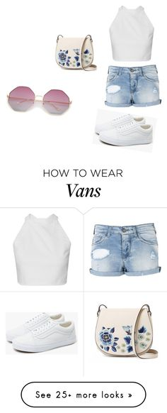 """Untitled #190"" by elena1d99 on Polyvore featuring Armani Jeans, French Connection and Vans"