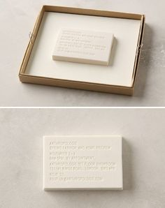 Eraser Invitation : Isn't this invitation for Anthropologie so great?  The text is embossed into a simple white eraser!
