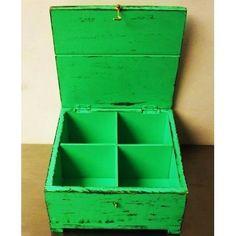 Caja De Te Madera Vintage Y Clásico 3 Divisiones Mas Colores - $ 330,00